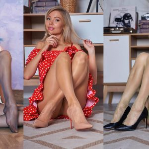 Legs in Pantyhose Art Sessions with Dasha, Maria and Asya 2020-12(1) - Art Nylon Magazine