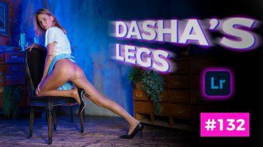 Dasha's Glossy Pantyhose - Color Processing Adobe Lightroom #132